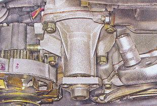 гайки крепления крышки насоса охлаждения ваз 2107