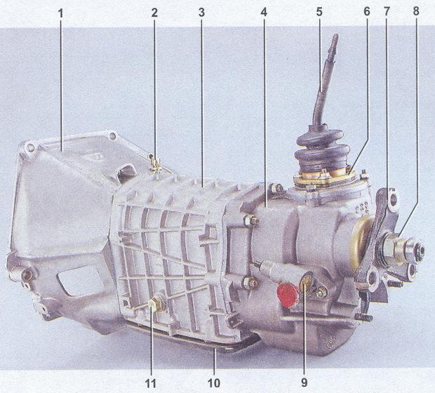 Схема коробка передач ваз 2107.
