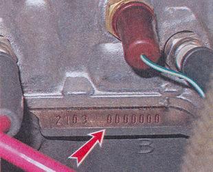 модель и номер двигателя ваз 2107