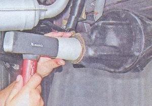 запресовка сальника картера редуктора заднего моста ваз 2107