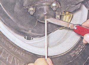 замер расстояния в шаровой опоре