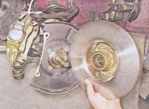 цапфа поворотного кулака - ступица с тормозным диском