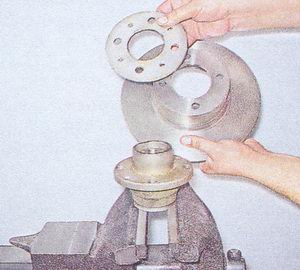 дистанционное кольцо - тормозной диск