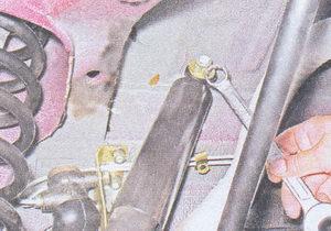 гайка крепления штока амортизатора к кузову ваз 2107