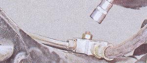 гайка крепления тройника тормозной трубки