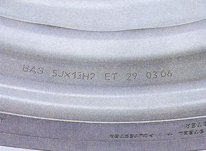 маркировка диска - размер колесного диска
