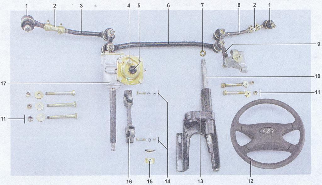 устройство рулевого управления ваз 2107