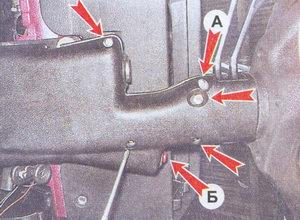 места кепления рулевых кожухов