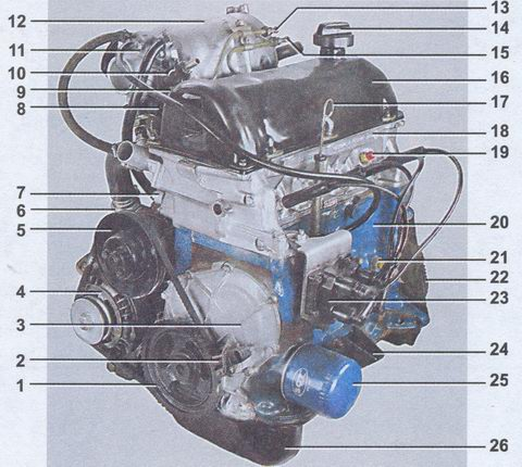 электросхема генератора 2107