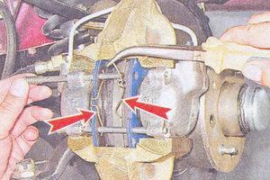 прижимные пружины тормозных колодок ваз 2107