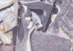 стопорная скоба штифта толкателя педали тормоза
