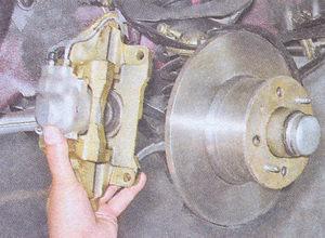 тормозной суппорт в сборе с рабочими тормозными цилиндрами