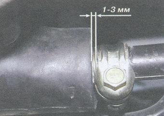 гайка стяжного хомута тяги управления коробки передач