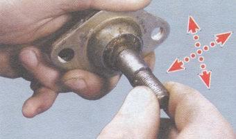 проверка шарового шарнира ваз 2108, - 2109, -21099