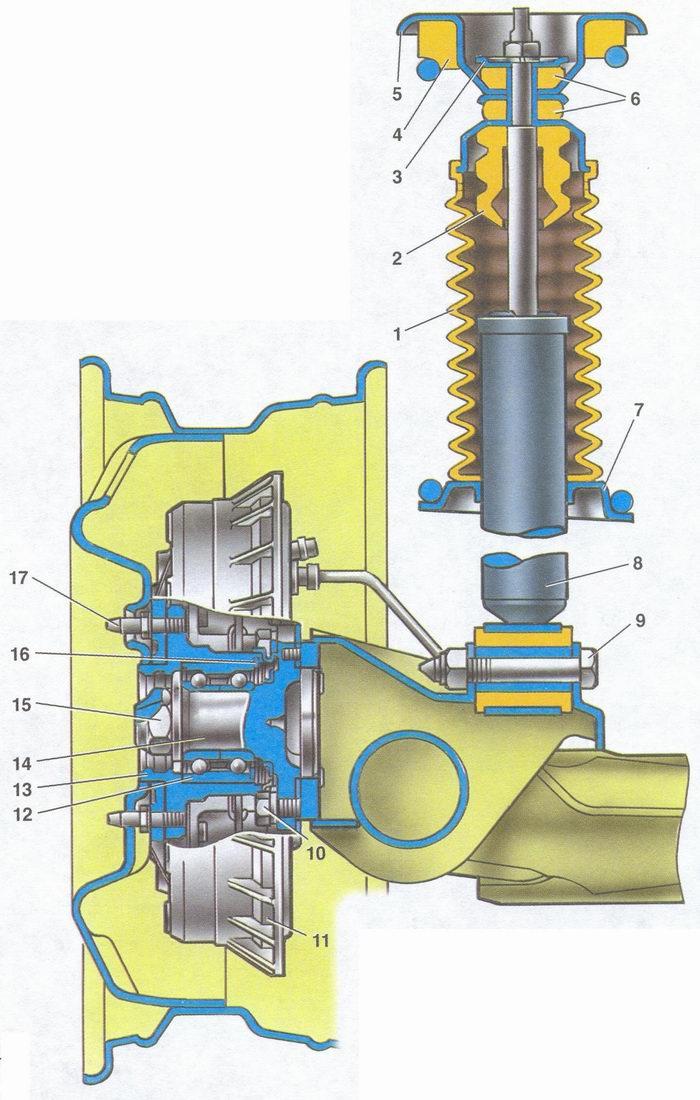 Ходовая ваз 21014 схема