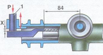 проверка зазора между упором рулевой рейки и гайкой упора рулевой рейки