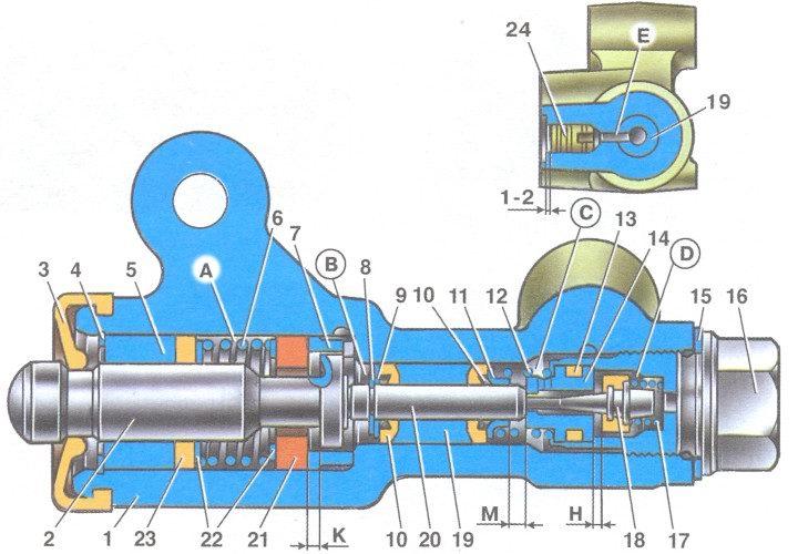 регулятор давления тормозов автомобилей ваз 2108, ваз 2109, ваз 21099