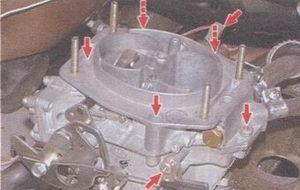 винты крепления верхней крышки карбюратора