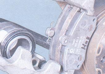 установка тормозных колодок