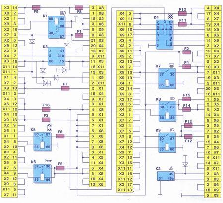 схема соединений монтажного блока 2114-3722010-60 ваз 2108, ваз 2109, ваз 21099