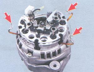 выводы обмотки статора генератора