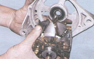 ротор генератора - крышка генератора