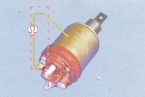 проверка обмоток тягового реле стартера