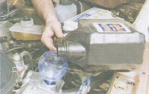 заливка масла в двигатель ваз 2108, ваз 2109, ваз 21099