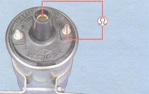 проверка сопротивления вторичной обмотки катушки зажигания