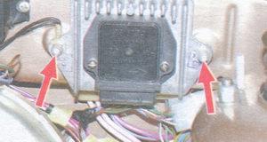 гайки крепления радиатора коммутатора зажигания