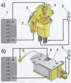 схема проверки регулятора напряжения ваз 2108, ваз 2109, ваз 21099