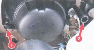 винты регулировки света фар на автомобиле ваз 2108, ваз 2109, ваз 21099
