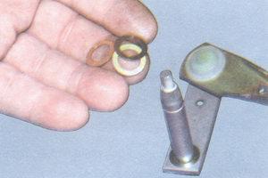 тяга стеклоочистителя - регулировочные шайбы