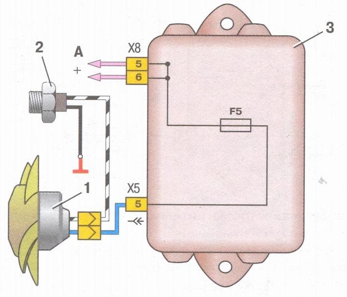 Винтелятор охлаждения ваз 2108 схема.
