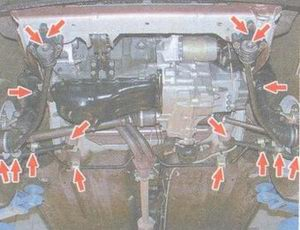 места проверки возможных стуков в подвеске и трансмиссии на автомобилях ваз 2108, ваз 2109, ваз 21099