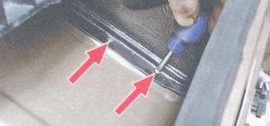 винты крепления кожуха вентилятора отопителя салона