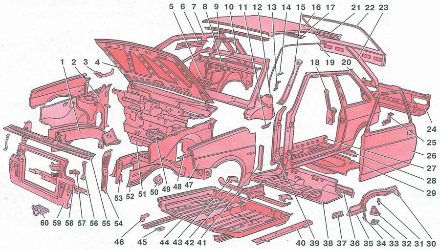 автомобиля ВАЗ 2108: