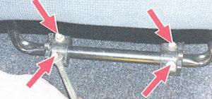 гайки крепления кронштейна переднего сиденье