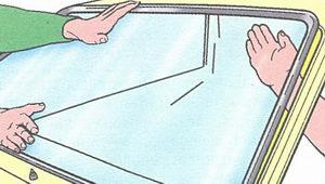 снятие лобового стекла с автомобиля ваз 2108, ваз 2109, ваз 21099
