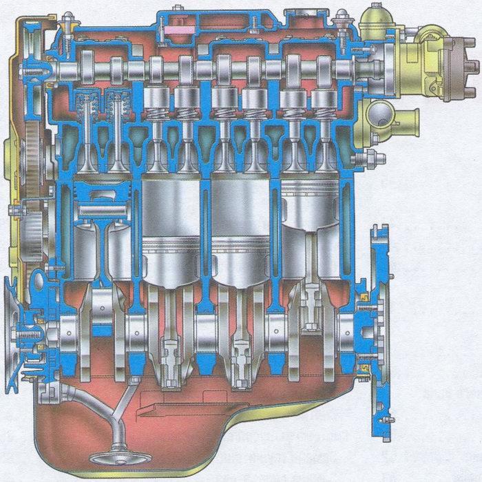 продольный разрез двигателя ваз 2108