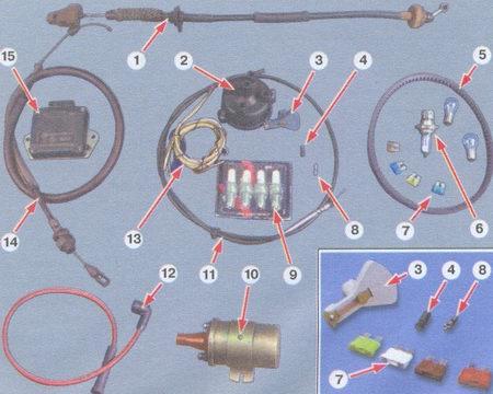 запасные части для автомобиля ваз 2108, ваз 2109, ваз 21099