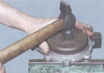 запрессовка сальника коленвала в держатель