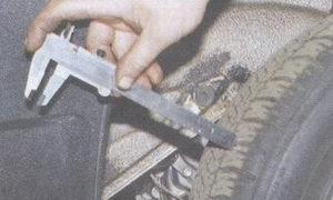 замер протектора на шине
