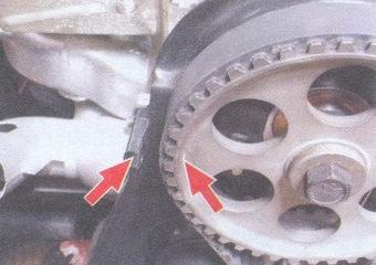 метки установки поршеня первого цилиндра в ВМТ такта сжатия