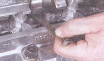 проверка зазора клапана