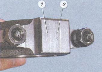 (1) - класс шатуна по массе, (2) - класс шатуна по поршневому пальцу