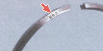 Надпись поршевого кольца Ваз
