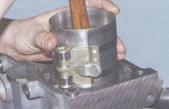 оправка для установки поршня в блок цилиндров