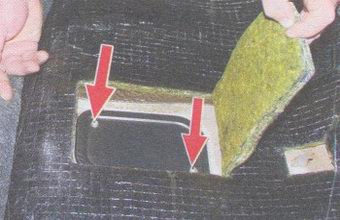 винты крепления крышки люка бензобака