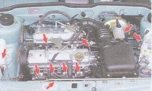 инжекторный двигатель ваз 2108, ваз 2109, ваз 21099